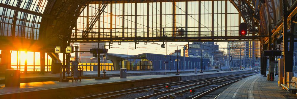 Fotobehang met industriële gebouwen