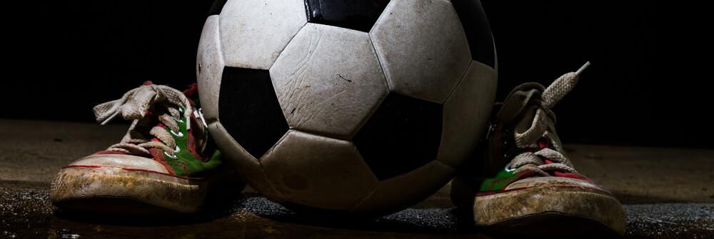 Voetbal fotobehang