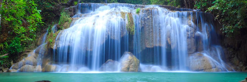 Fotobehang met een waterval