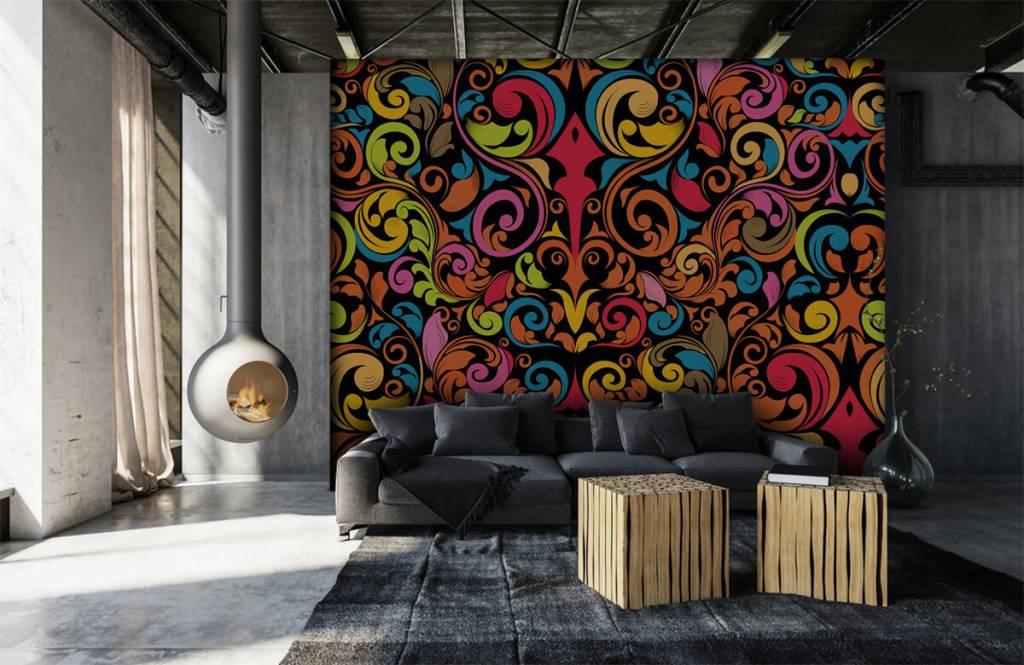 Abstract - Abstracte gekleurde figuren - Keuken 2