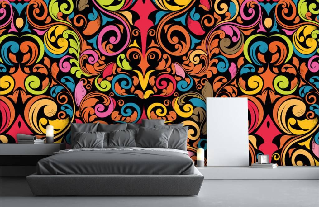 Abstract - Abstracte gekleurde figuren - Keuken 3