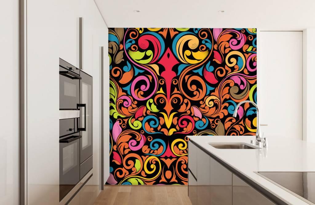 Abstract - Abstracte gekleurde figuren - Keuken 4
