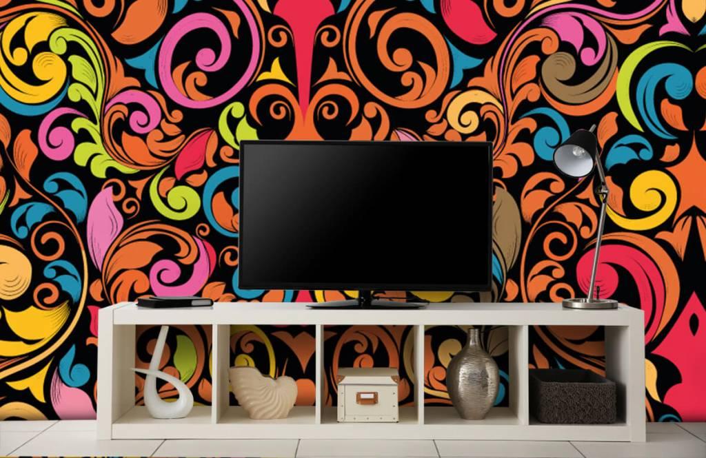 Abstract - Abstracte gekleurde figuren - Keuken 5