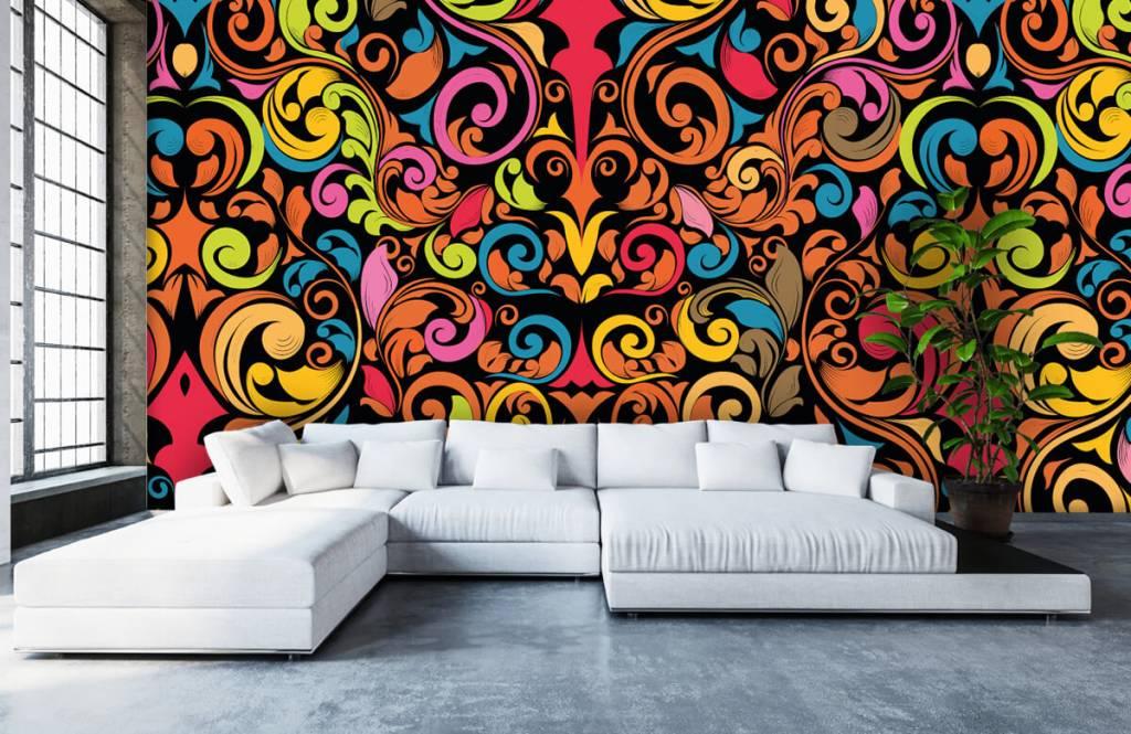 Abstract - Abstracte gekleurde figuren - Keuken 6