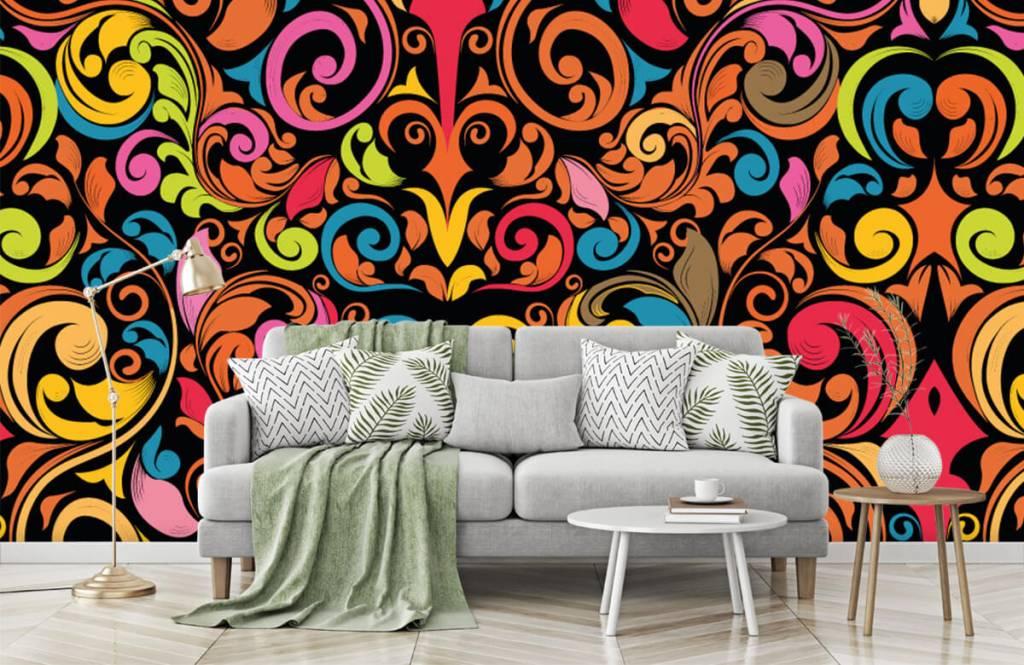 Abstract - Abstracte gekleurde figuren - Keuken 7