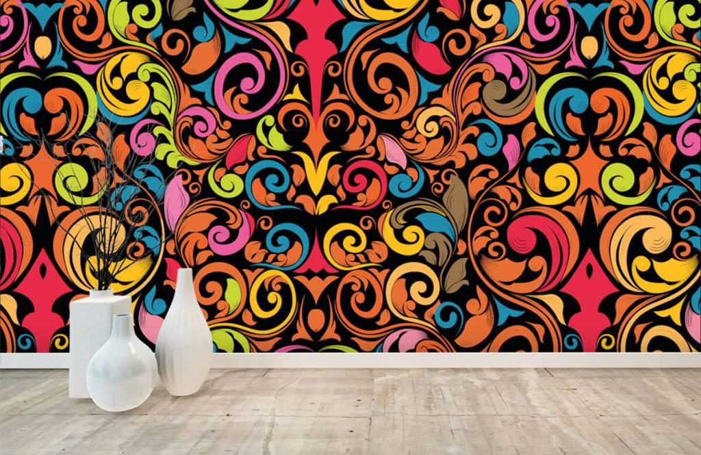 Abstract - Abstracte gekleurde figuren - Keuken 8