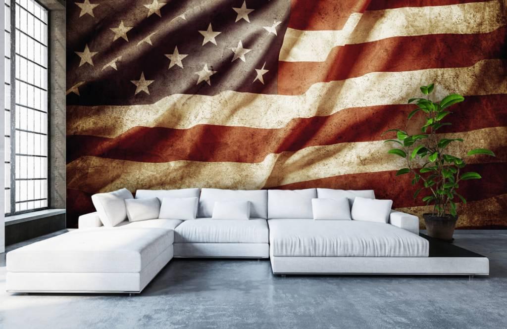 Jongensbehang - Amerikaanse vlag - Tienerkamer 7