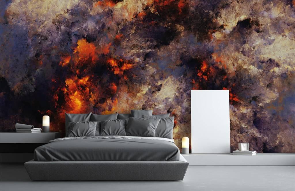 Abstract - Donkere abstracte rookwolken - Magazijn 3