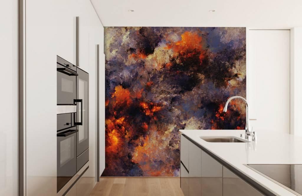 Abstract - Donkere abstracte rookwolken - Magazijn 4