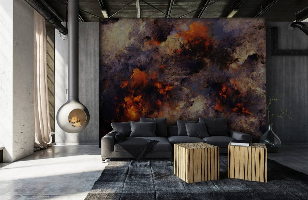 Abstract - Donkere abstracte rookwolken - Magazijn 6