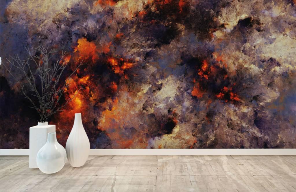 Abstract - Donkere abstracte rookwolken - Magazijn 8