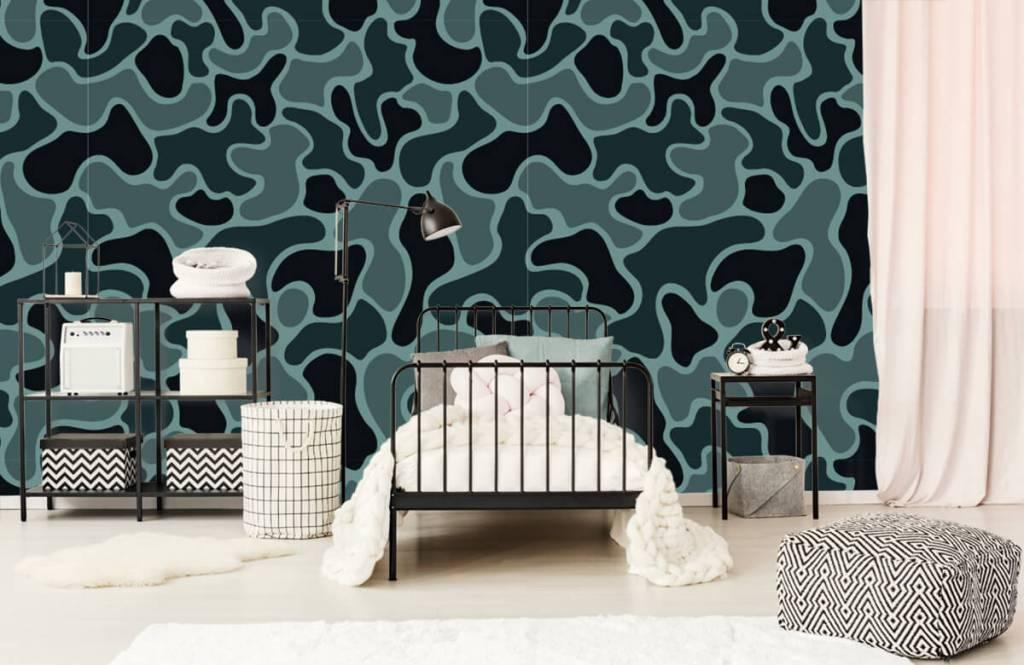 Overige - Groen grijze camouflage - Kinderkamer 1