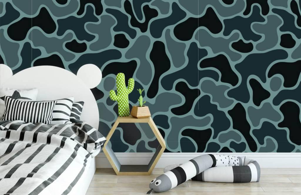 Overige - Groen grijze camouflage - Kinderkamer 3