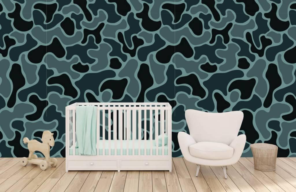 Overige - Groen grijze camouflage - Kinderkamer 4