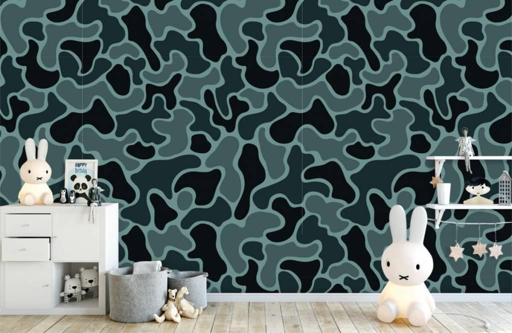 Overige - Groen grijze camouflage - Kinderkamer 6