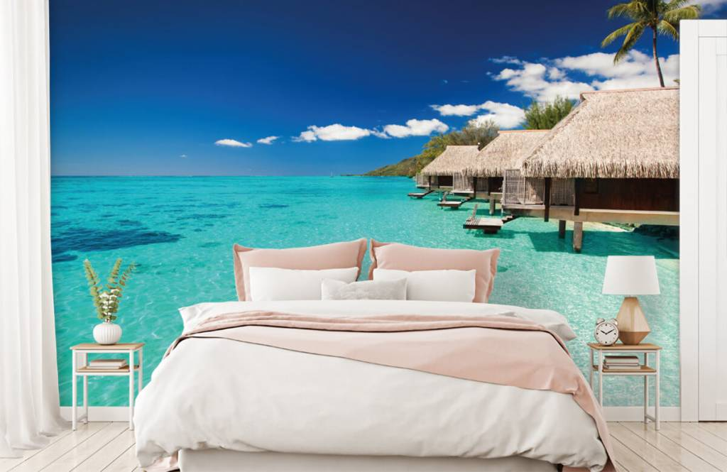 Strand behang - Huisjes op de Malediven - Hobbykamer 3