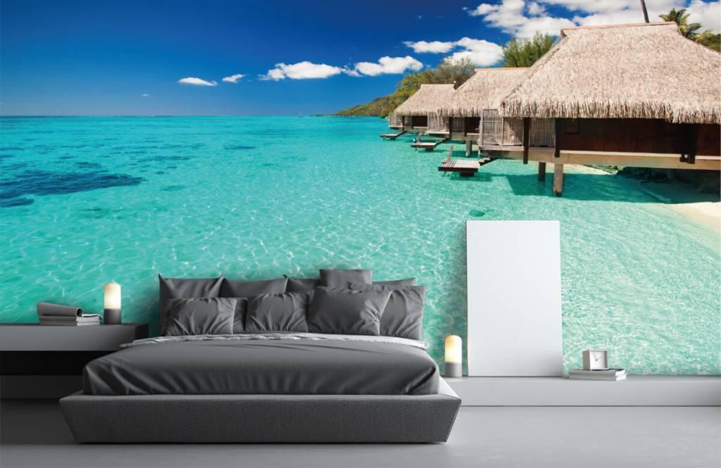 Strand behang - Huisjes op de Malediven - Hobbykamer 4