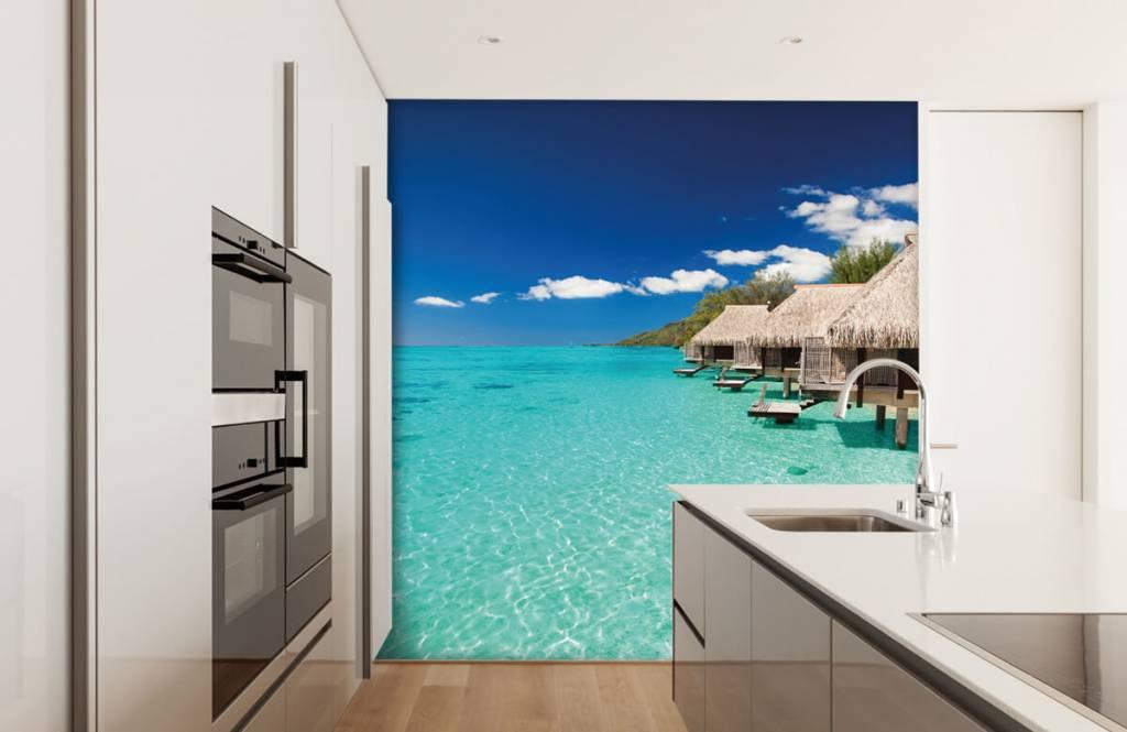 Strand behang - Huisjes op de Malediven - Hobbykamer 5