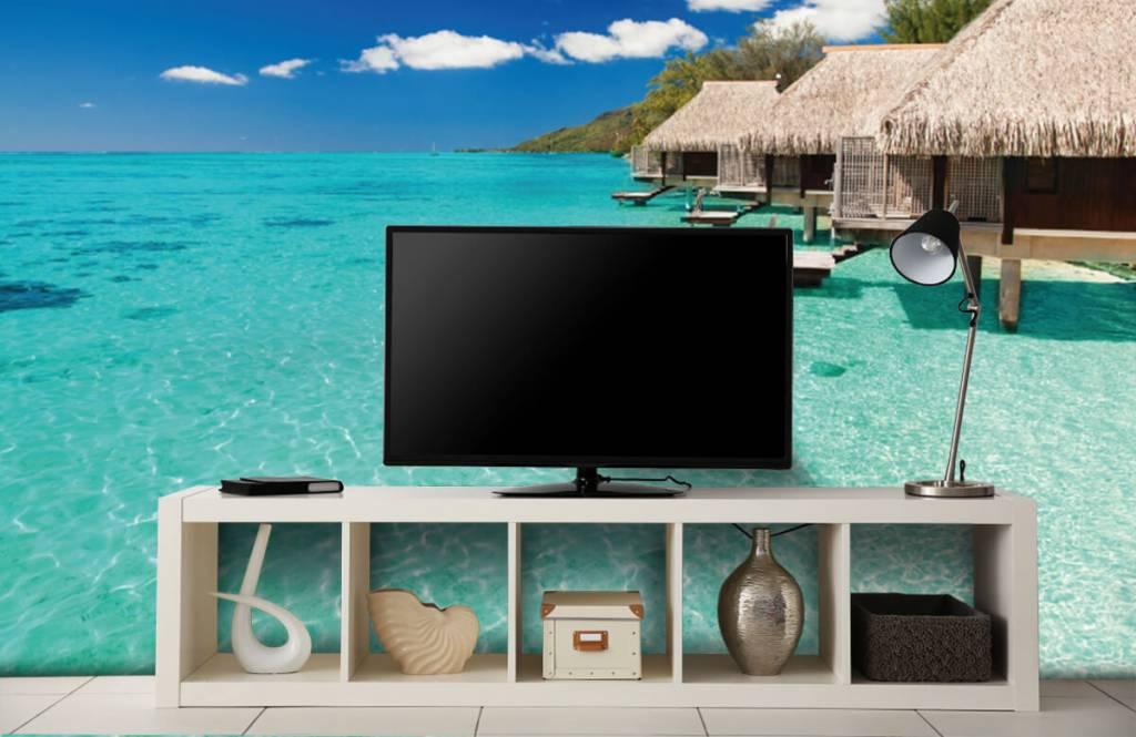 Strand behang - Huisjes op de Malediven - Hobbykamer 6
