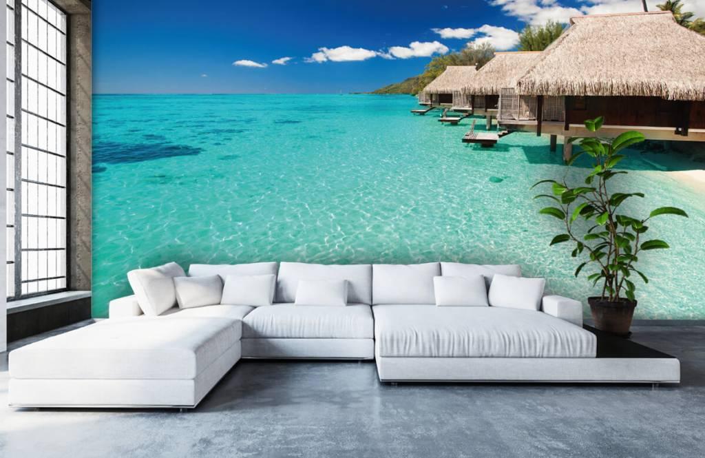 Strand behang - Huisjes op de Malediven - Hobbykamer 7
