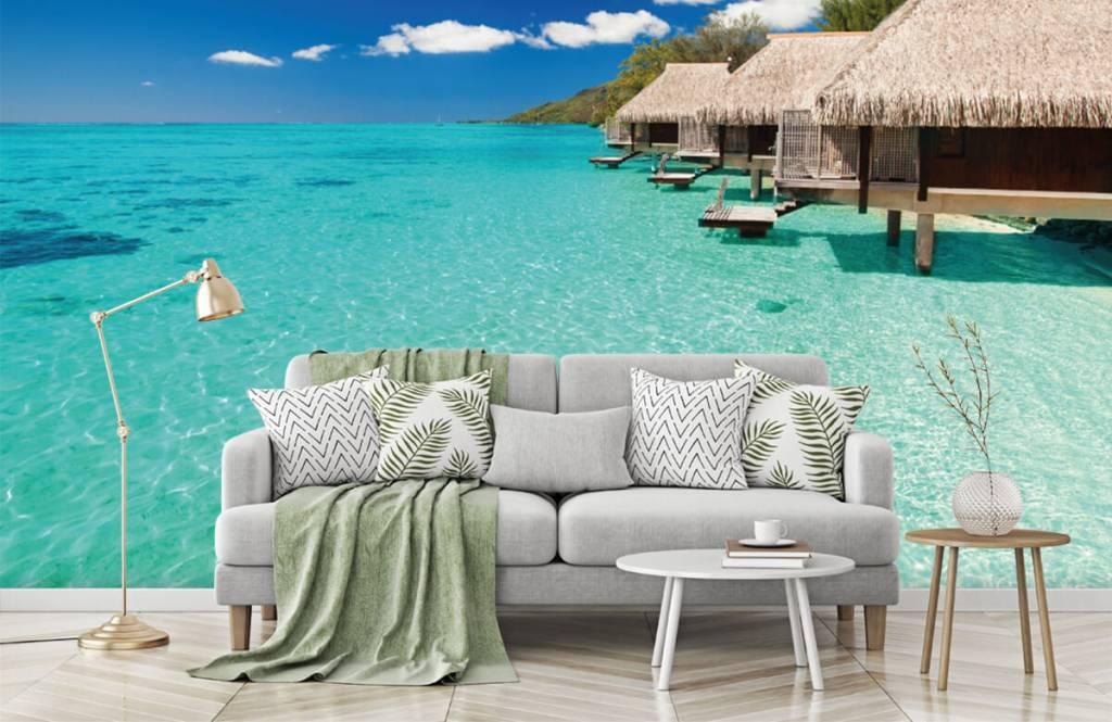 Strand behang - Huisjes op de Malediven - Hobbykamer 8