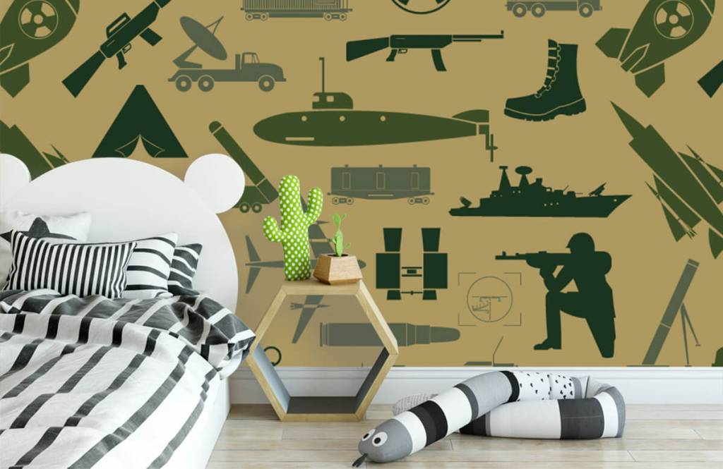 Overige - Militaire illustraties - Kinderkamer 2