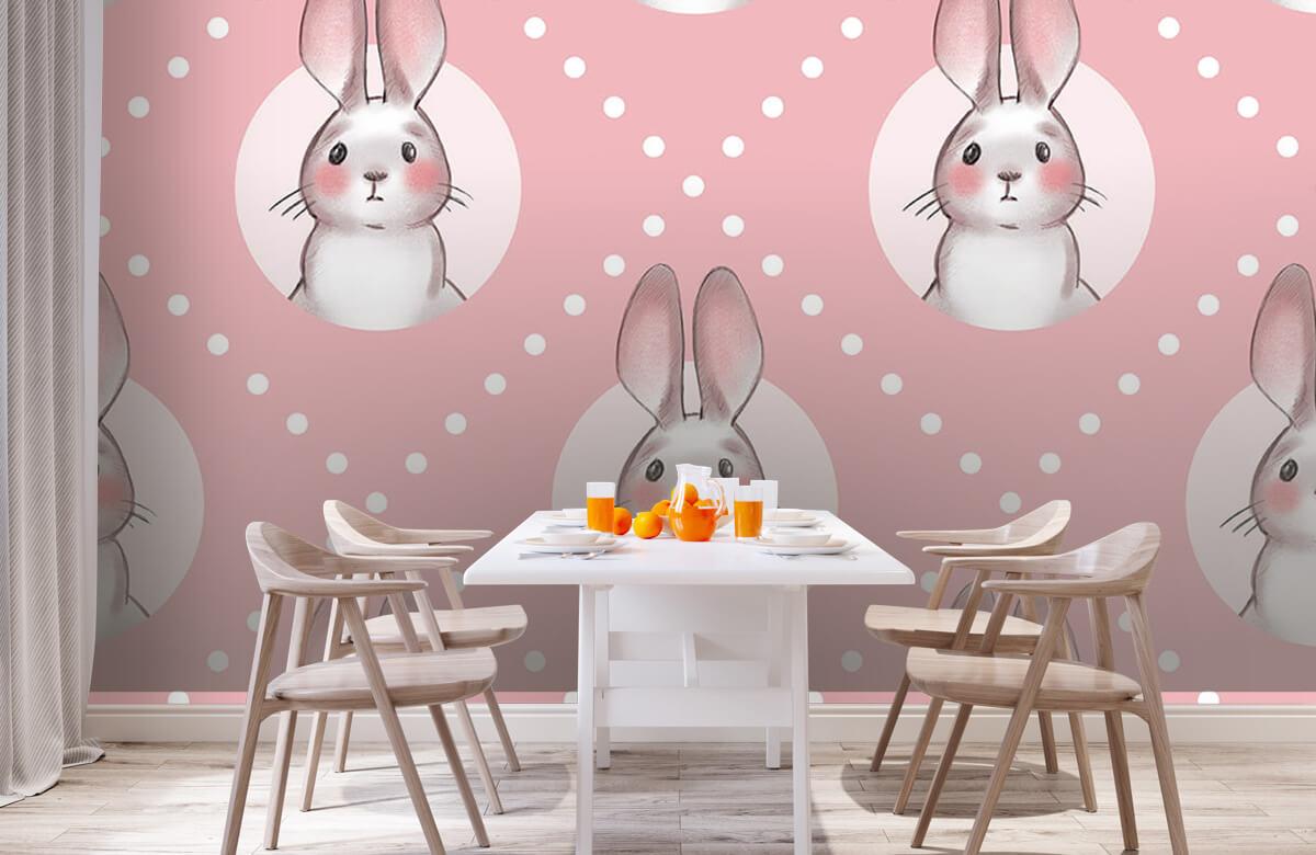 Dieren Roze konijnen patroon 3