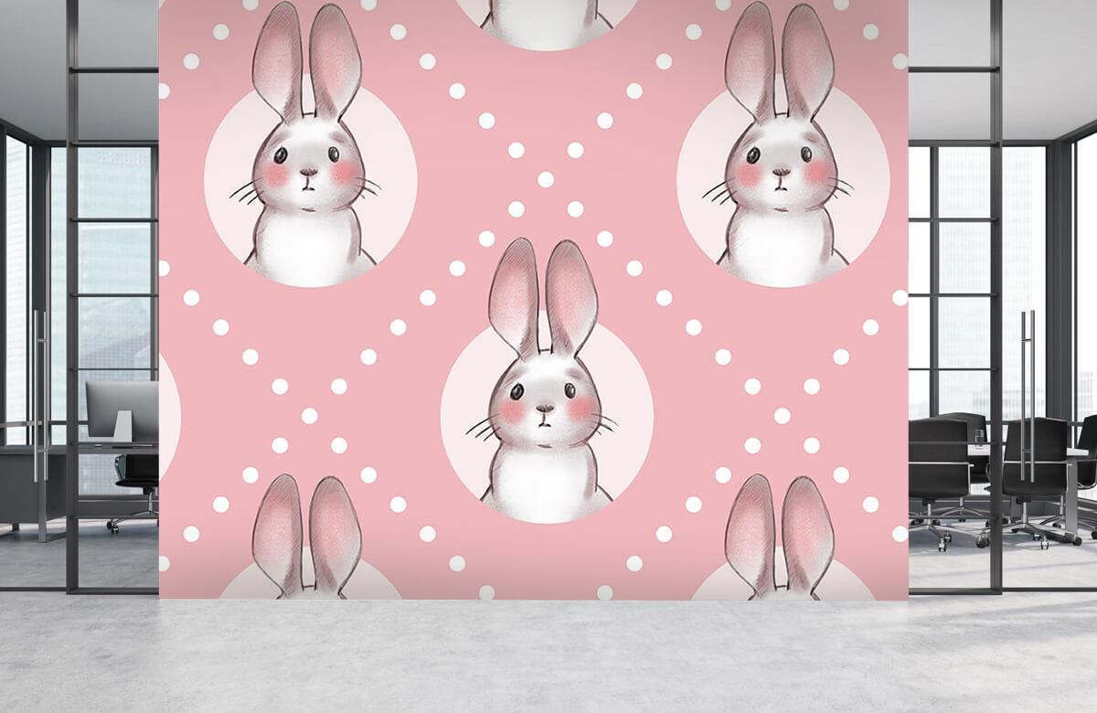 Dieren Roze konijnen patroon 8