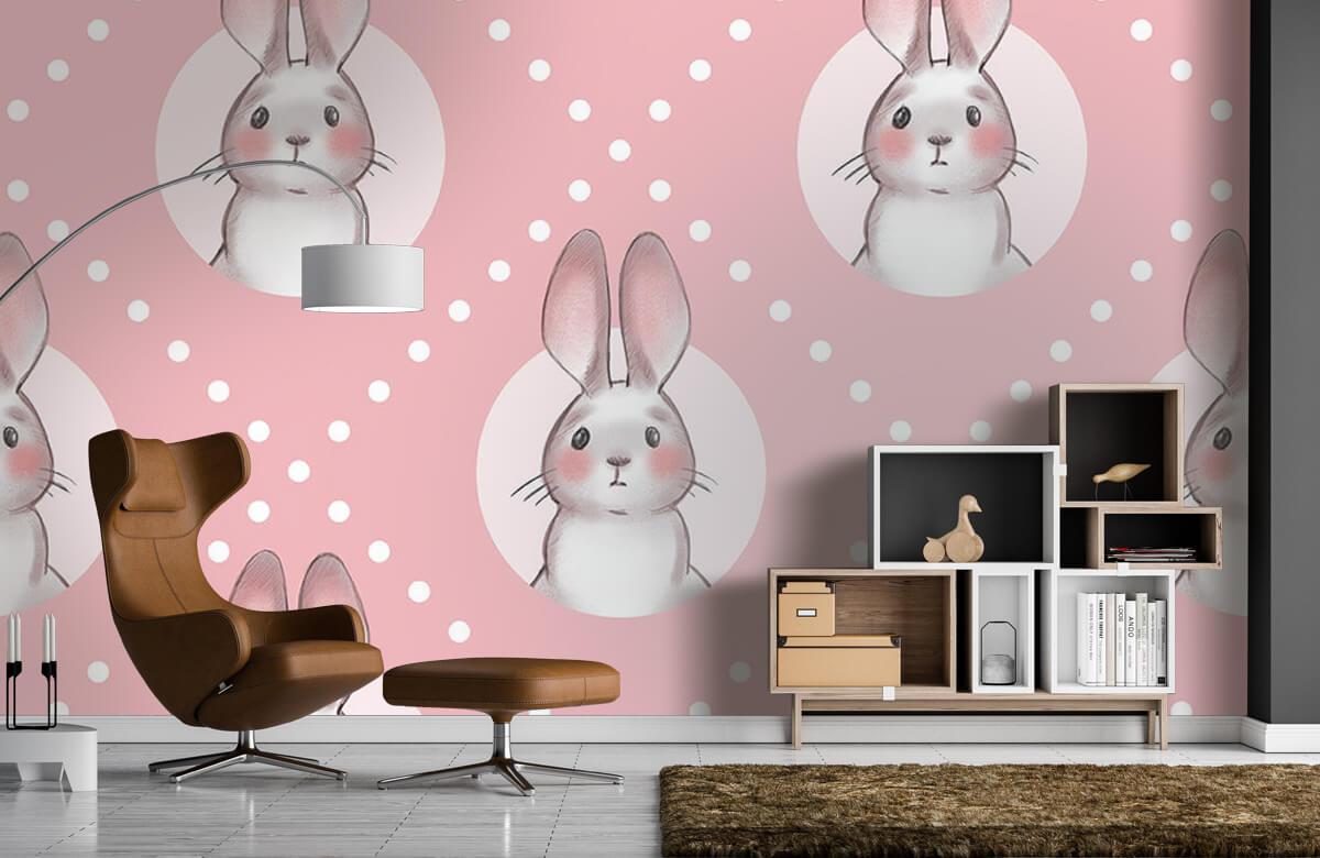 Dieren Roze konijnen patroon 9