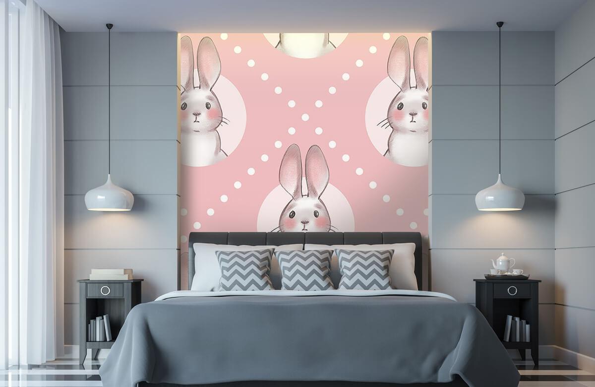 Dieren Roze konijnen patroon 11