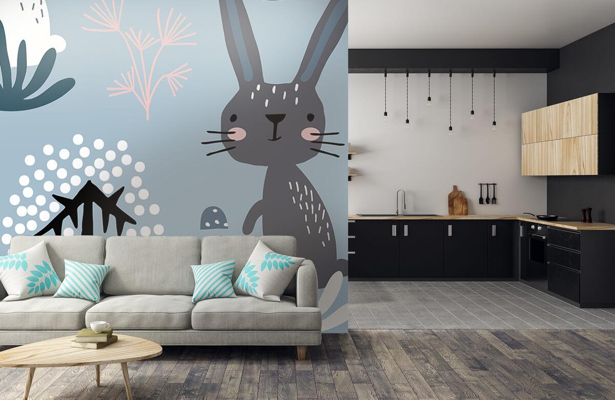 Dieren Blauw konijnen patroon 8