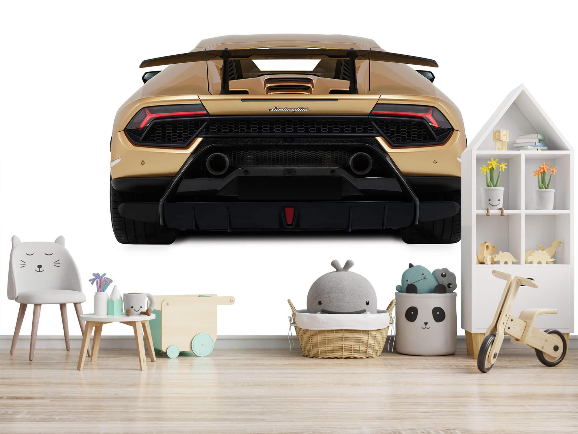 Wallpaper Lamborghini Huracán - Achterkant, wit 8