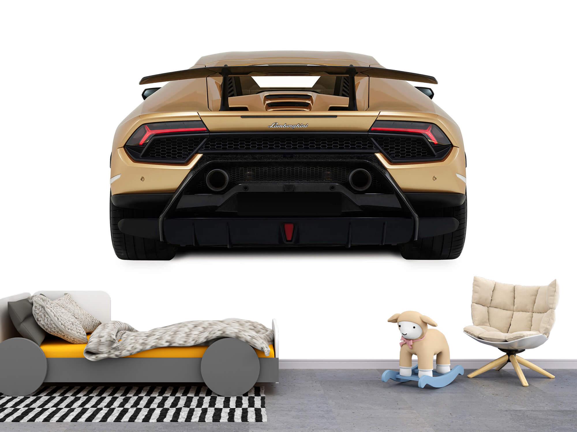 Wallpaper Lamborghini Huracán - Achterkant, wit 1