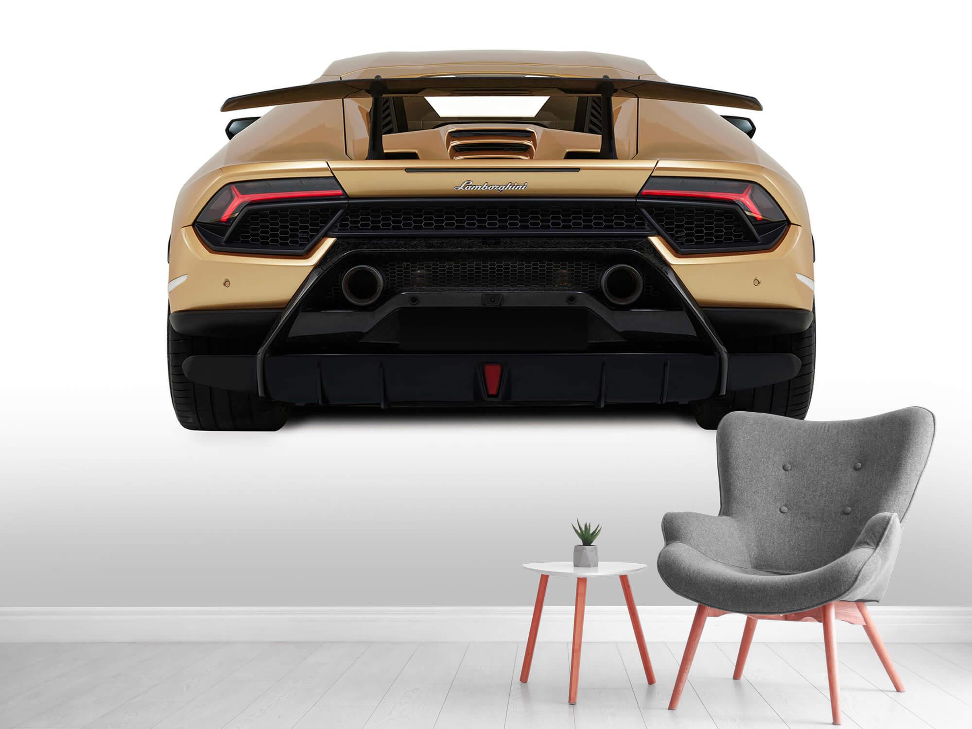 Wallpaper Lamborghini Huracán - Achterkant, wit 5