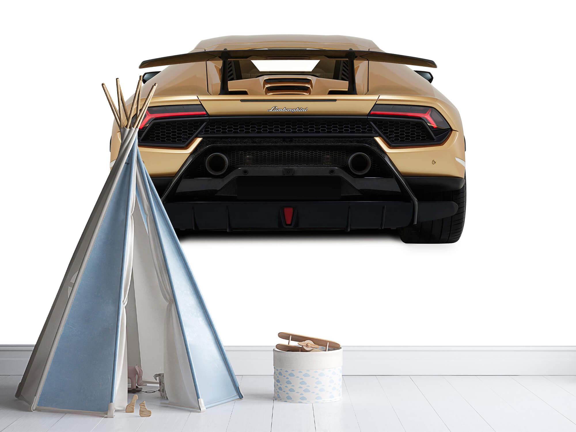 Wallpaper Lamborghini Huracán - Achterkant, wit 11