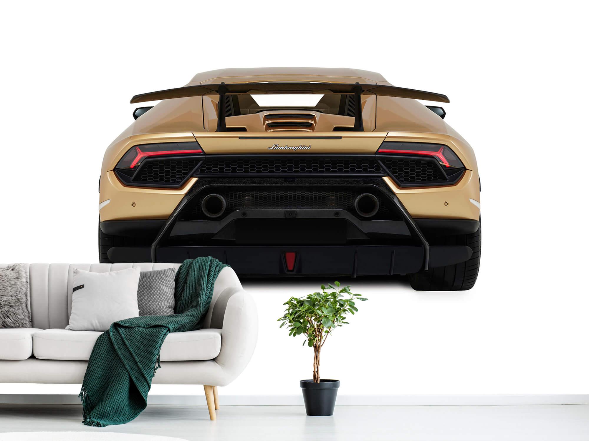 Wallpaper Lamborghini Huracán - Achterkant, wit 2