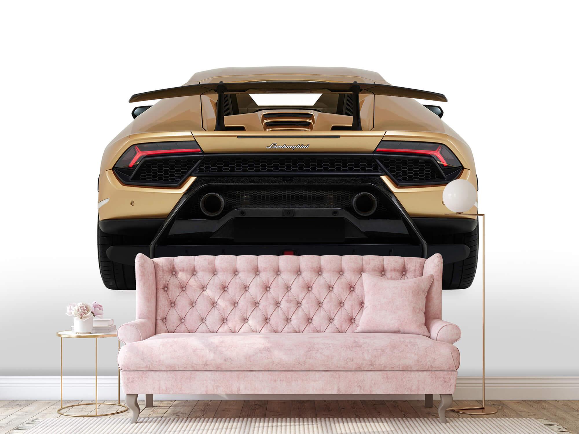 Wallpaper Lamborghini Huracán - Achterkant, wit 15