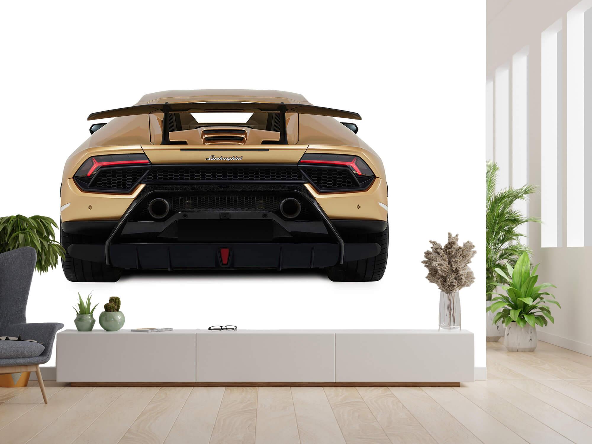 Wallpaper Lamborghini Huracán - Achterkant, wit 14