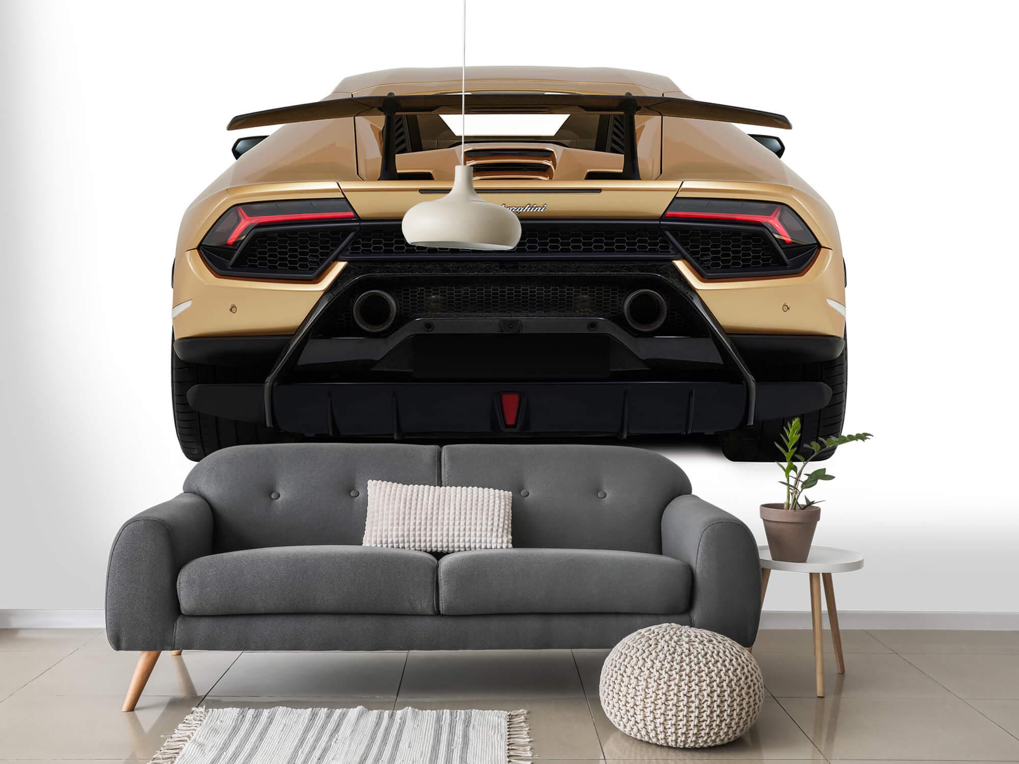 Wallpaper Lamborghini Huracán - Achterkant, wit 3