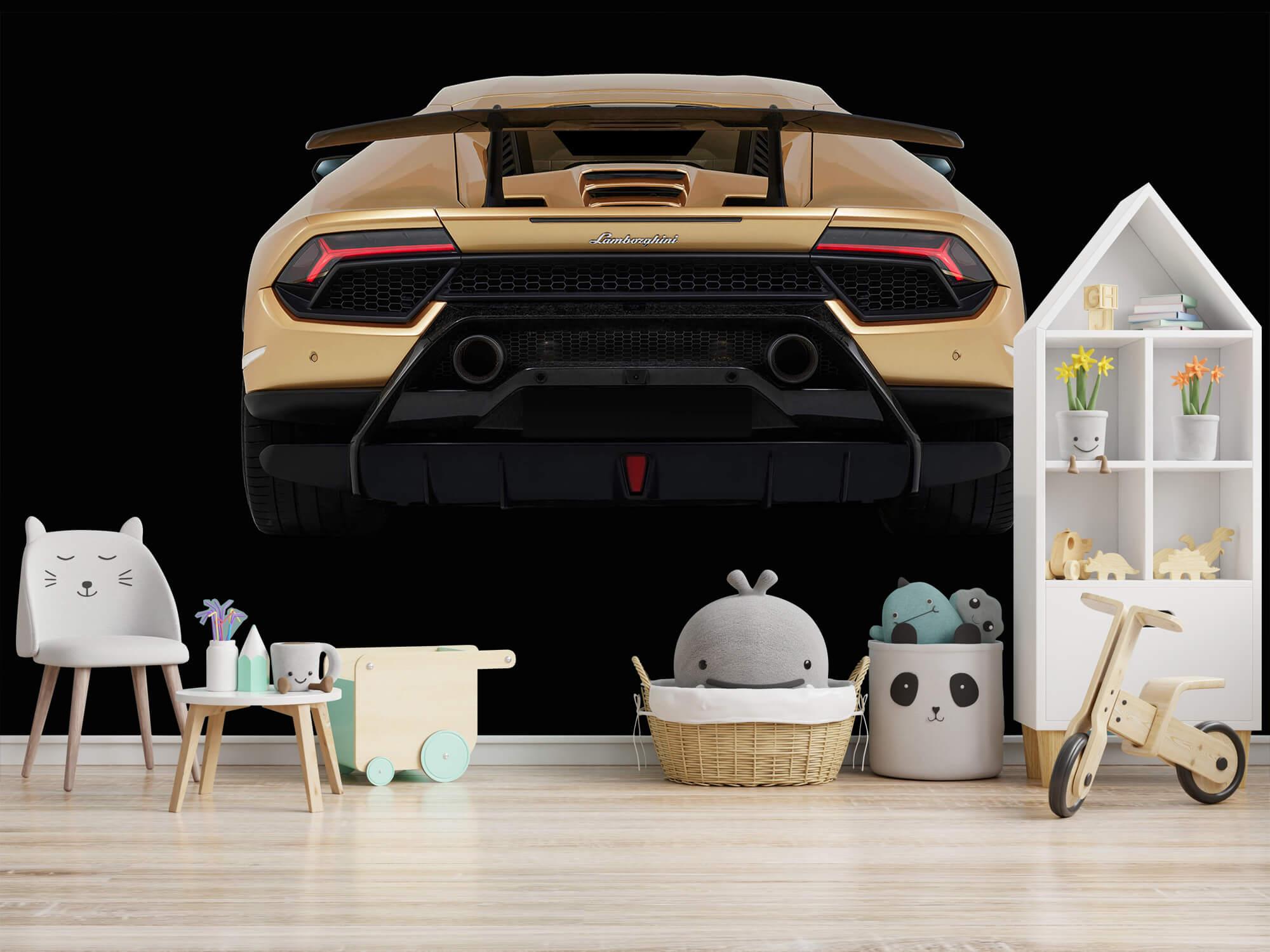 Wallpaper Lamborghini Huracán - Achterkant, zwart 5