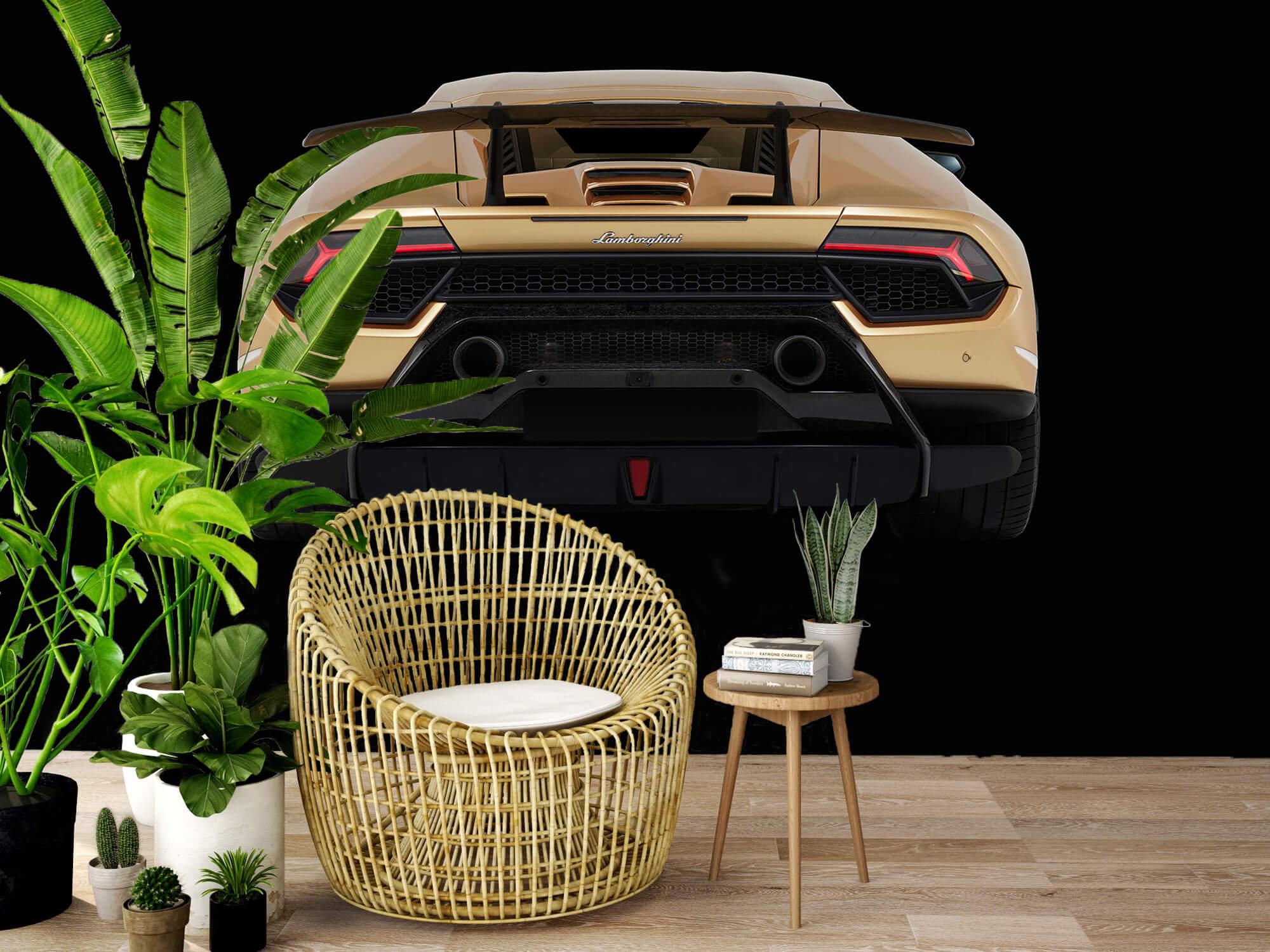 Wallpaper Lamborghini Huracán - Achterkant, zwart 6