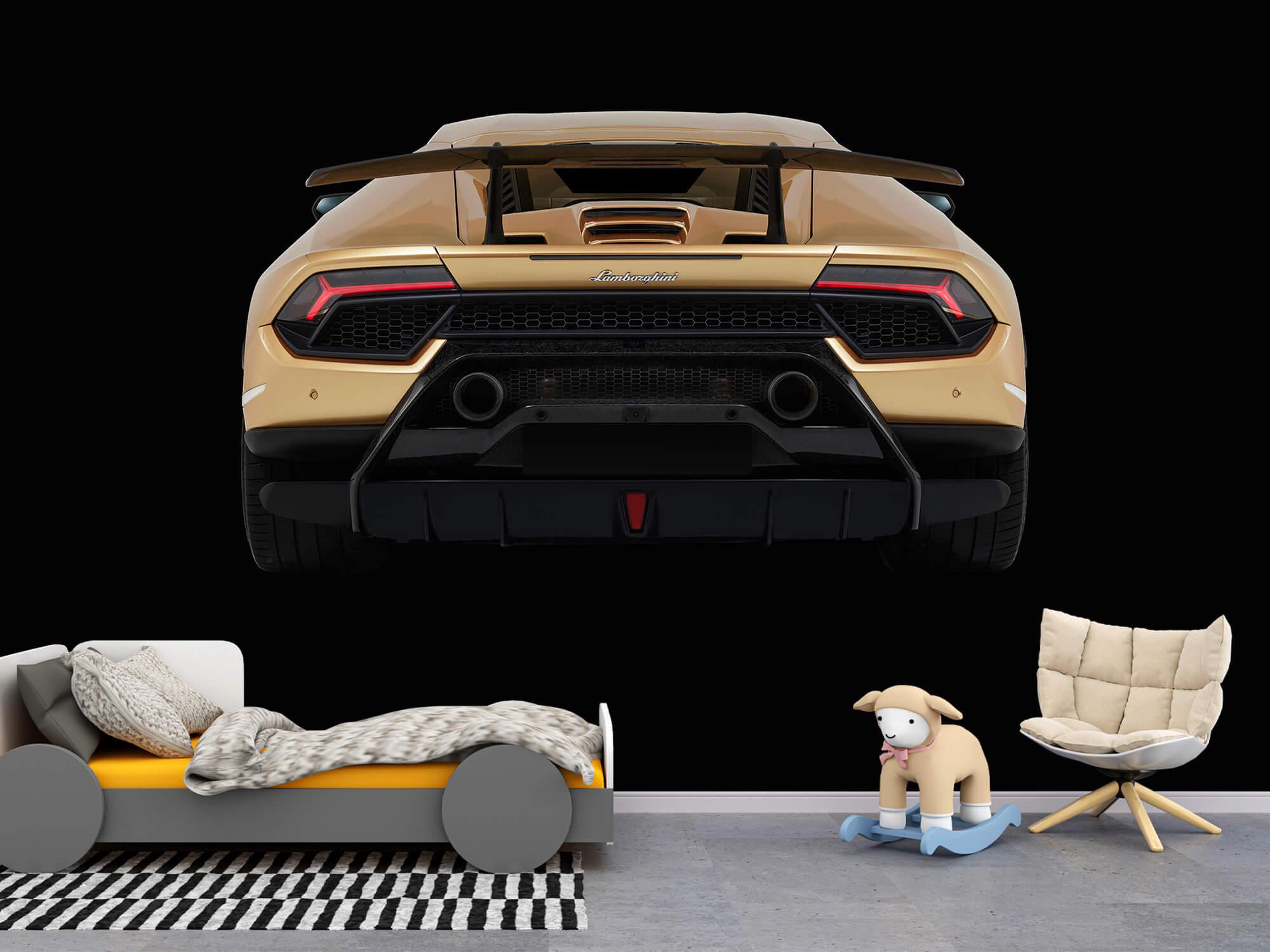 Wallpaper Lamborghini Huracán - Achterkant, zwart 4
