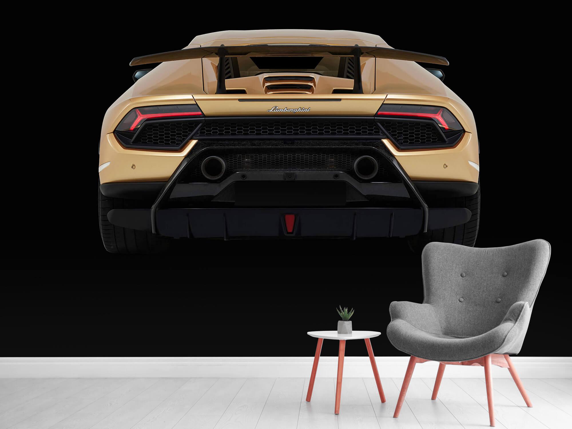 Wallpaper Lamborghini Huracán - Achterkant, zwart 11