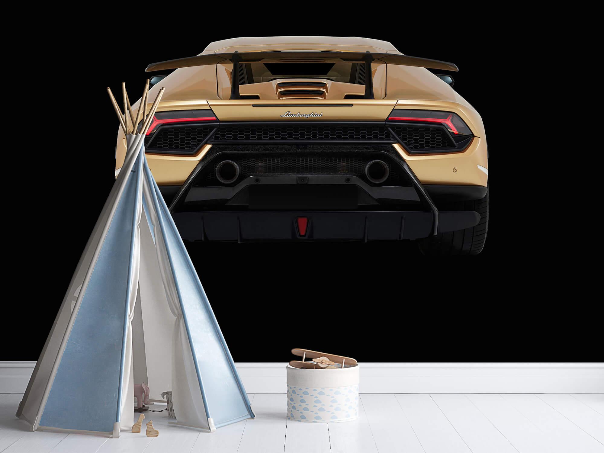 Wallpaper Lamborghini Huracán - Achterkant, zwart 7