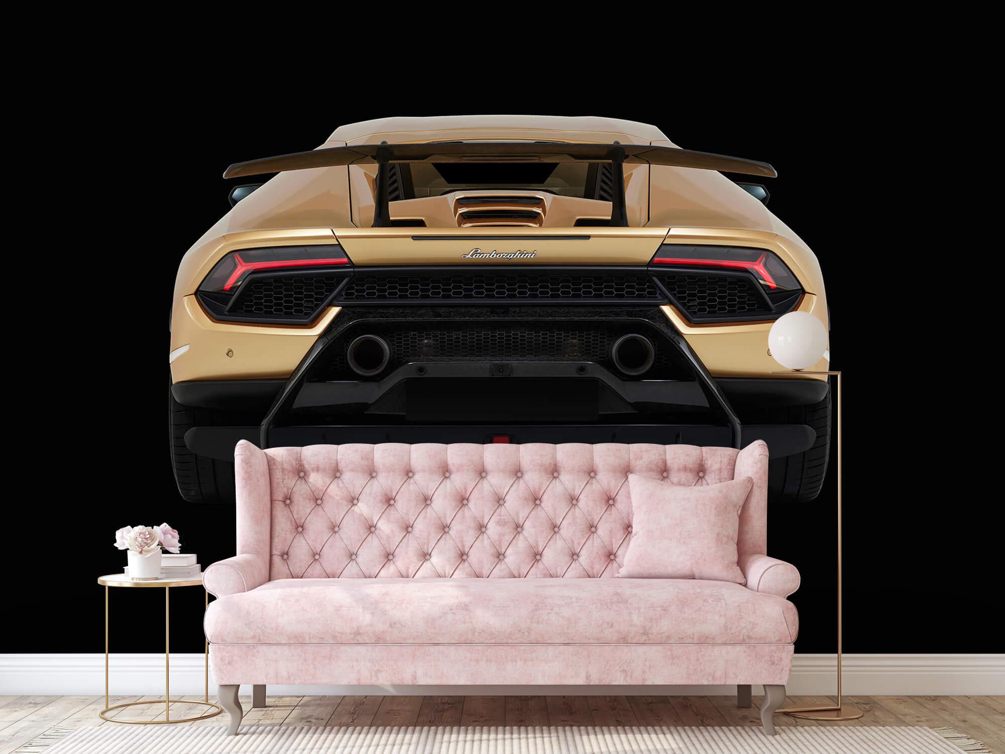 Wallpaper Lamborghini Huracán - Achterkant, zwart 13