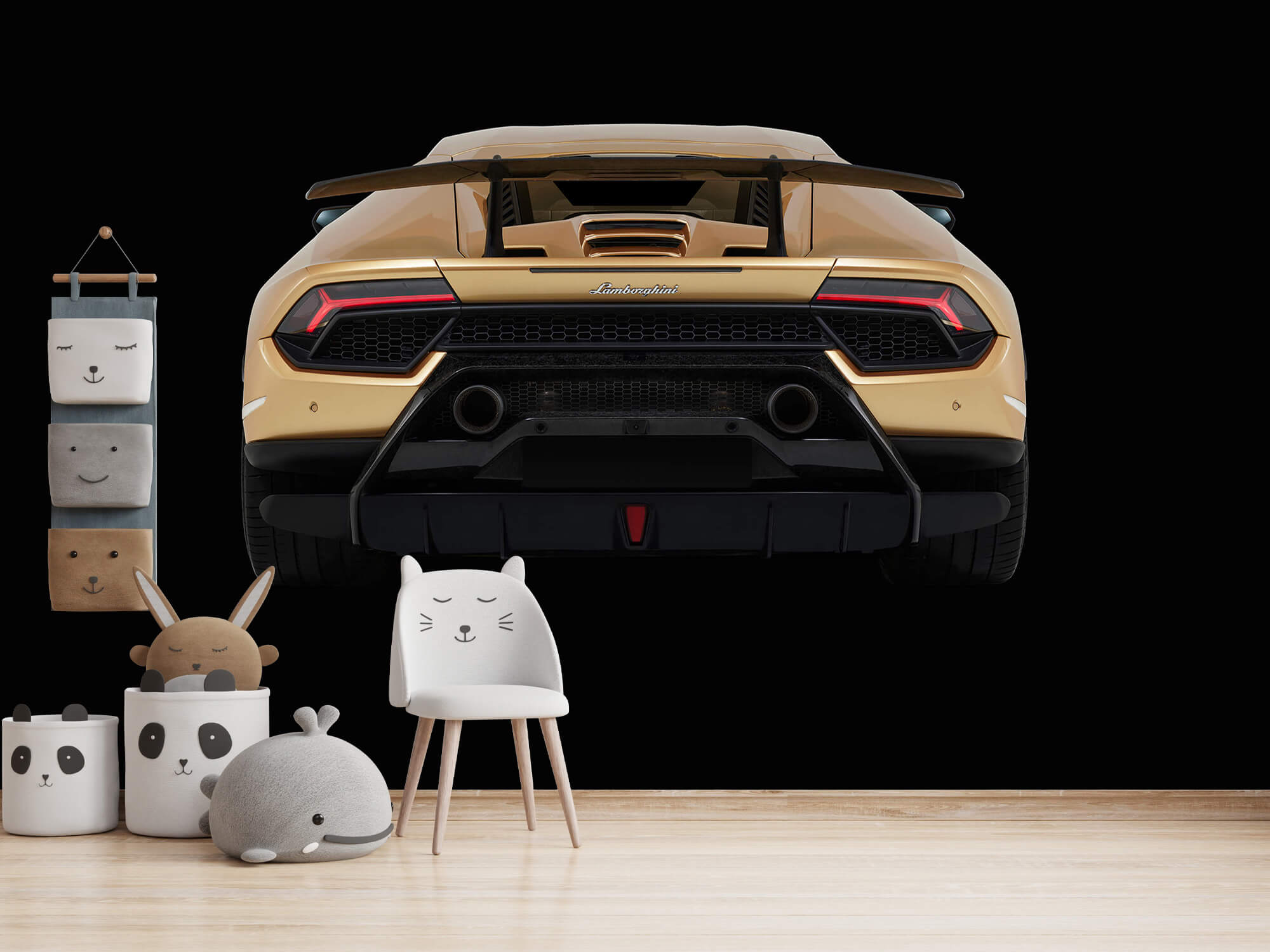 Wallpaper Lamborghini Huracán - Achterkant, zwart 14