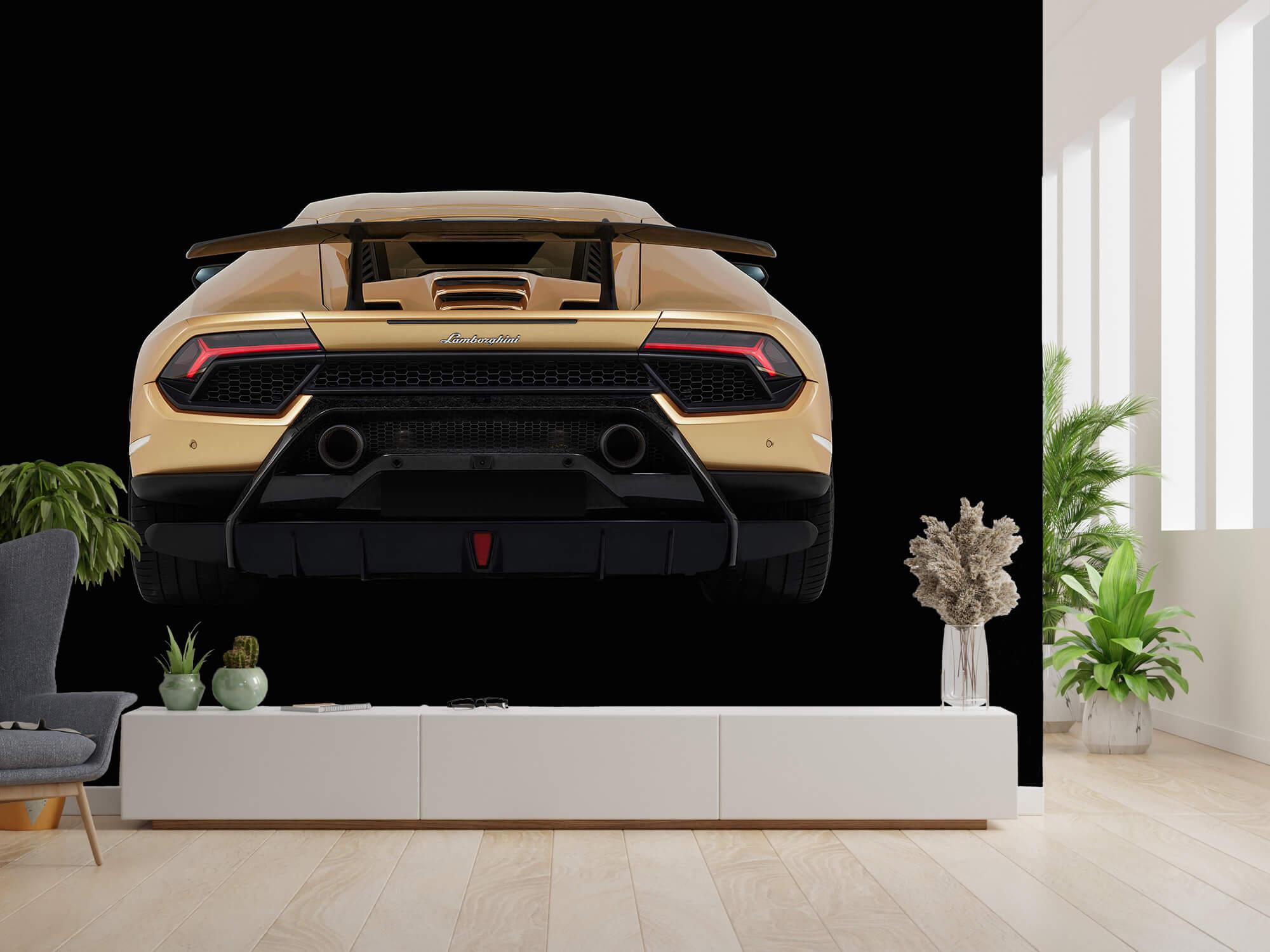 Wallpaper Lamborghini Huracán - Achterkant, zwart 2