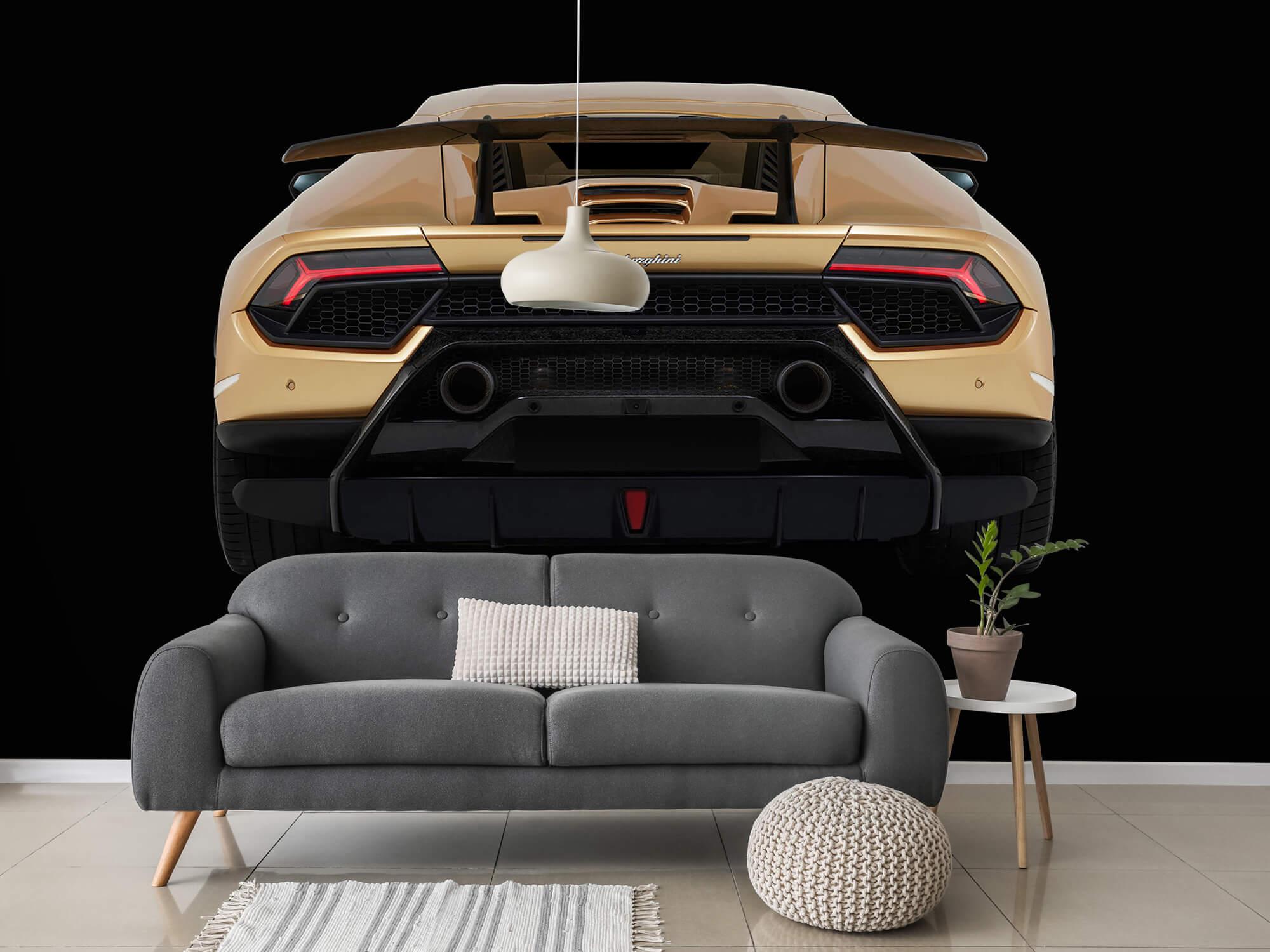 Wallpaper Lamborghini Huracán - Achterkant, zwart 15