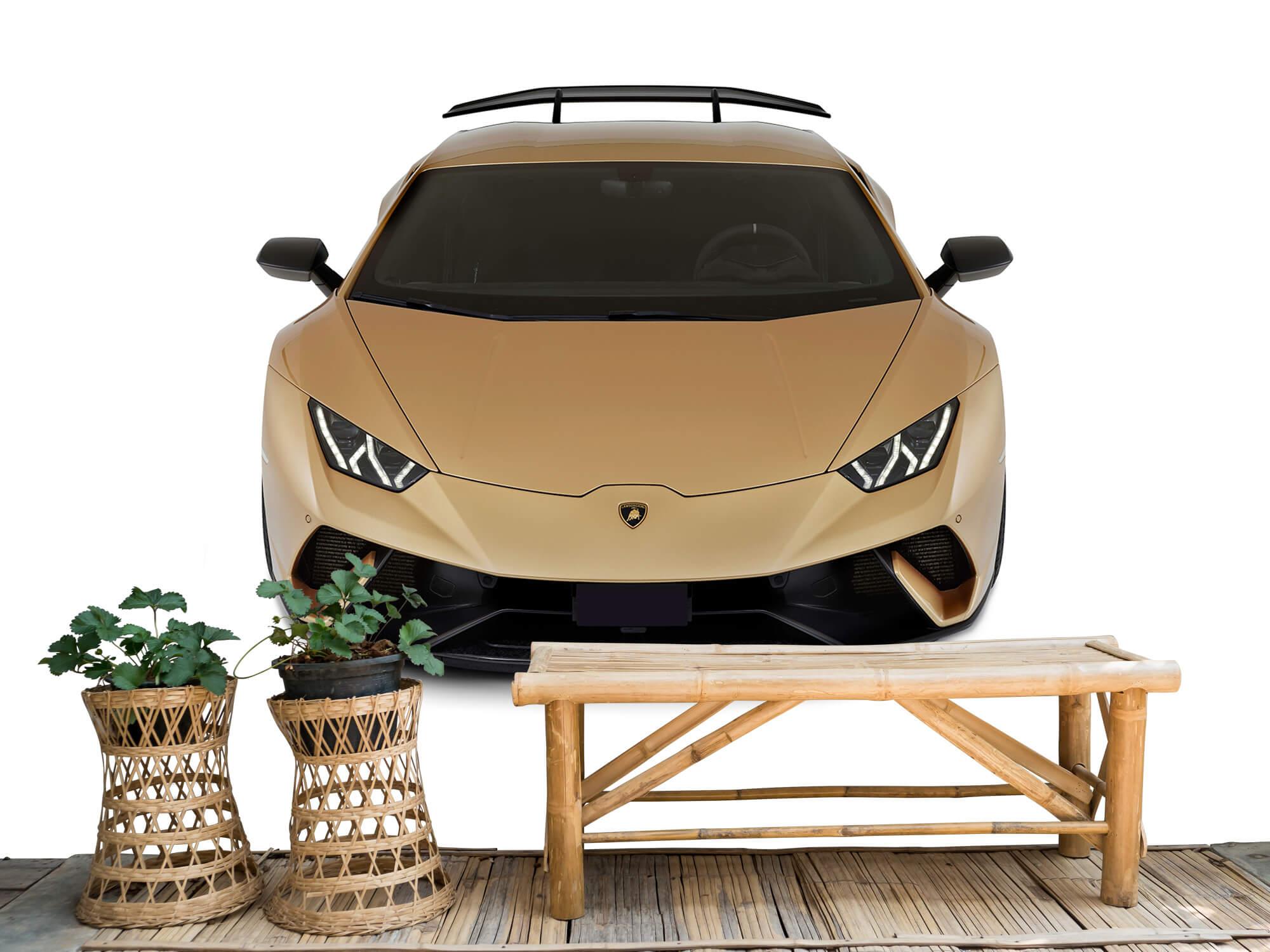 Wallpaper Lamborghini Huracán - Voorkant vanaf boven, wit 3