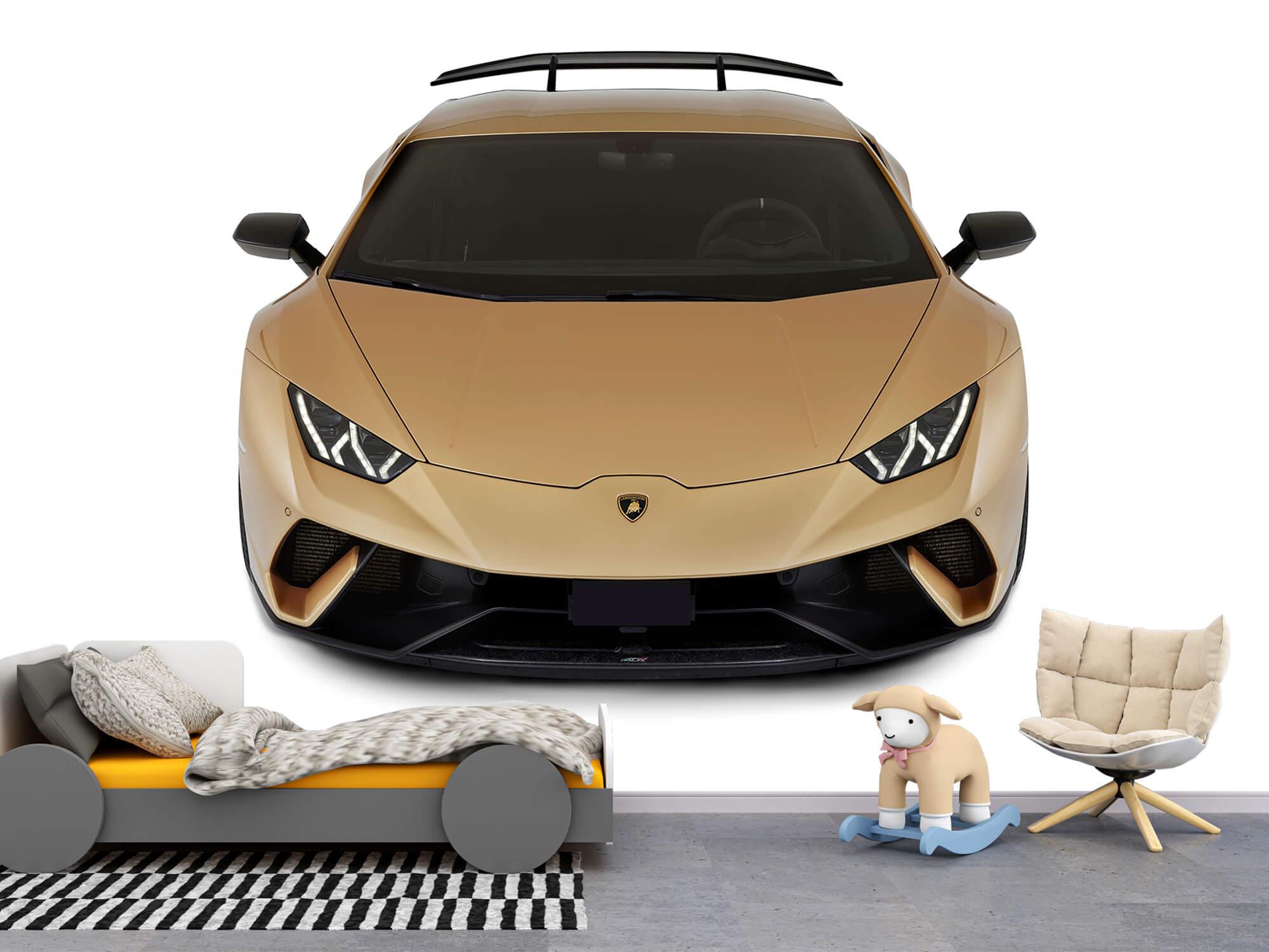 Wallpaper Lamborghini Huracán - Voorkant vanaf boven, wit 10